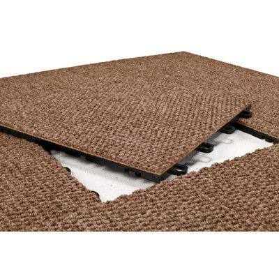 Blocktile 12 X 12 Premium Interlocking Basement Floor Carpet Tile In Brown Floor Carpet Tiles Carpet Tiles Carpet Tiles Basement