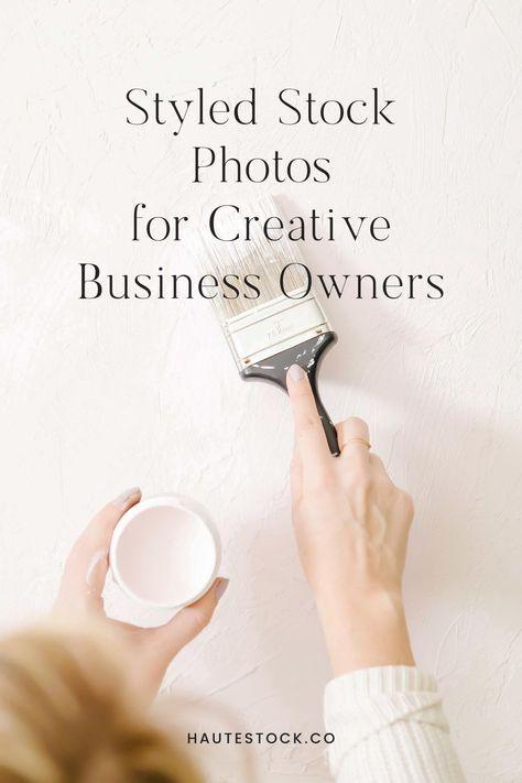 Creative styled stock photos for women business owners from Haute Stock. #hautestock #stockphotography #blogger #femaleentrepreneur #branding #business #marketing #womenbusinessowner #creative #designers