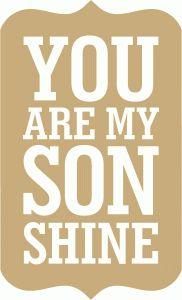 Silhouette Design Store: you are my son shine