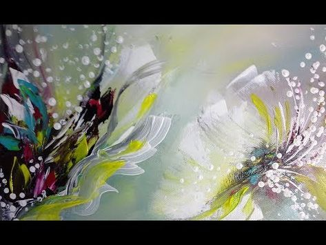 Abstract Acrylic Paintings Of Poppies Floral Flower Art Abstrakte