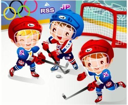 Children Clip Art Hockey Cartoons Vector Hockey Kids Cartoon
