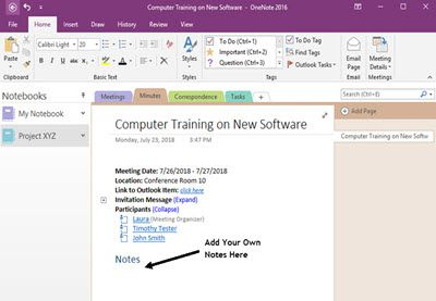 How To Use Onenote With Your Outlook Calendar By Laura Spencer Do You Struggle To Complete Your Project Management Outlook Calendar One Note Microsoft Outlook