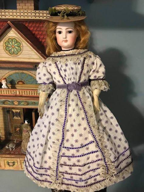 ANTIQUE FRENCH FASHION LADY ROHMER  BRU JUMEAU DOLL SHOE BOOTS PATTERN 7 SIZES