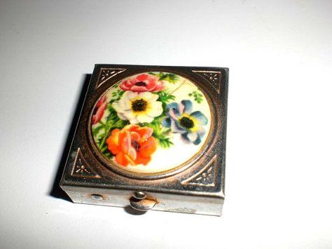 flower pill case Pill Container Flower Fairy mint case Pill case for purse Flower Pill Box Red Pill Case 4146 Pill Box Fairy
