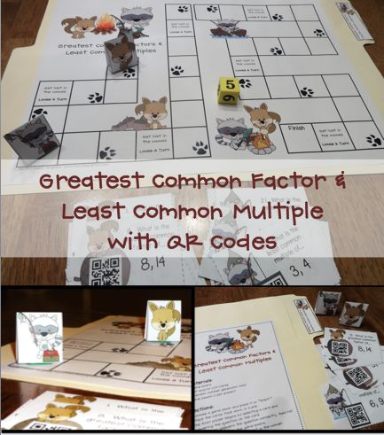 Greatest Common Factors And Least Common Multiples A File Folder