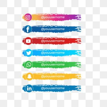 Instagram Facebook Youtube Twitter Whatsapp Brush Social Pack Google Global Information Connect Png And Vector With Transparent Background For Free Download Logo Instagram Adobe Illustrator Instagram