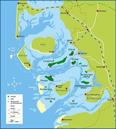 deutschlandkarte nordsee Nordsee: Halligen | Nordsee, Deutschlandkarte, Kurzurlaub nordsee