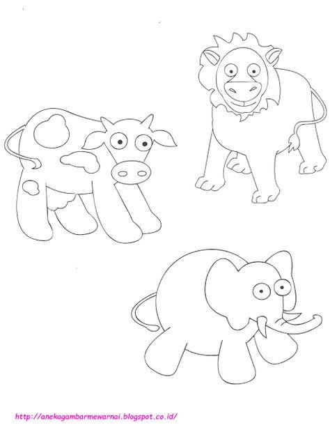 Mewarnai Hewan Lucu Untuk Anak Paud Dan Pictures Mewarnai Hewan