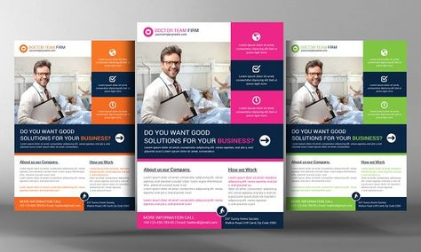 Medical Services Flyer Template by Business Templates on - advertisement flyer template