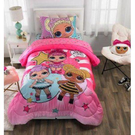 Kids Comforter Sheets Pillow Case Pink Twin Size LOL Surprise Bedding Set L.O.L
