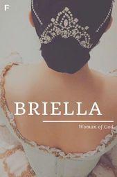 Amerikanische Babynamen Bedeutung Briella Frau Gottes Namen
