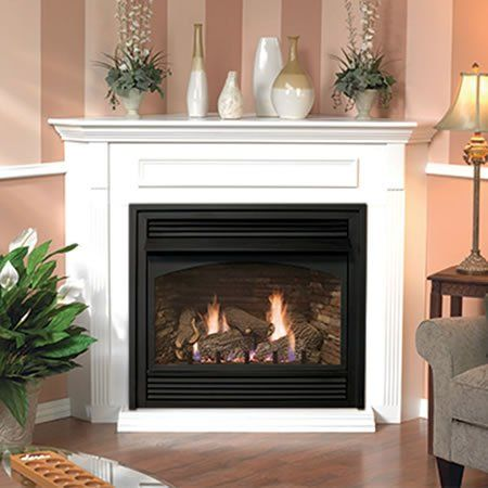 Empire Vail Ventless Gas Fireplace With Mantel 26