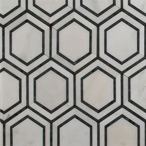 Hexagon Floor Tile 8 inch- Want a white hexagon tile floor or backsplash? We offer a variety of hexagon floor tile choices for homeowners and designers.