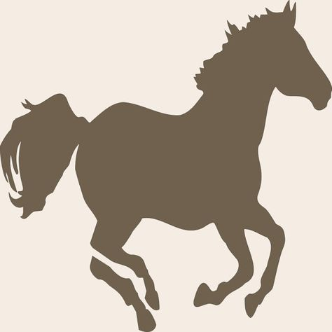 Stencil Galloping HORSE LARGE 10 wide x 10 by SuperiorStencils, $10.50