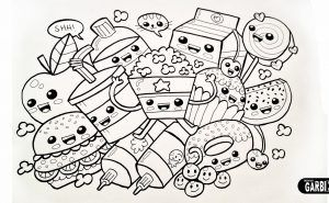Coloring Food Home Of Colori And Surprising Spring Coloring Pages With Kids Color 20 Best Free Kawaii Food Coloring Pages On Ebcs Inf Seni Doodle Warna Seni