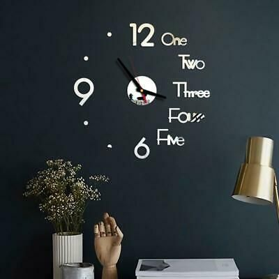 Details About Diy Digital Wall Clock 3d Mirror Surface Sticker Silent Clock Home Office Decor In 2020 Home Office Decor Diy Clock Wall Digital Wall