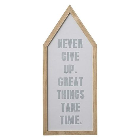 Bloomingville Tekst In Lijst Never Give Up Never Give Up Frame Great Things Take Time
