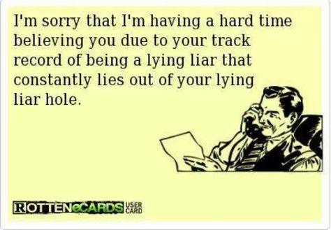 lying liar Ha!