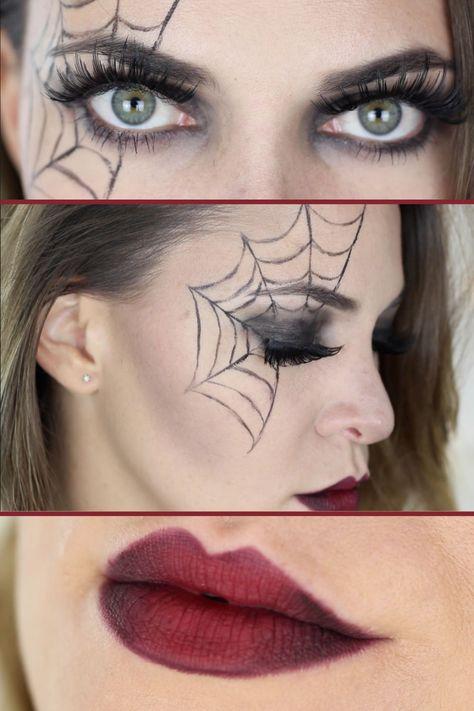 Spinne auf gesicht malen