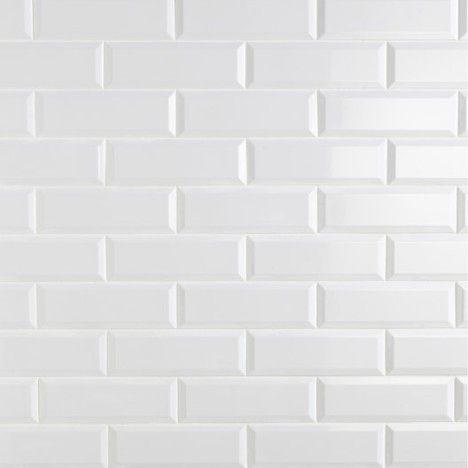 carrelage metro blanc mat interior