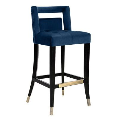 Allmodern Cain Upholstered Bar Counter Stool Wayfair In 2020 Bar Stools Counter Stools Stool