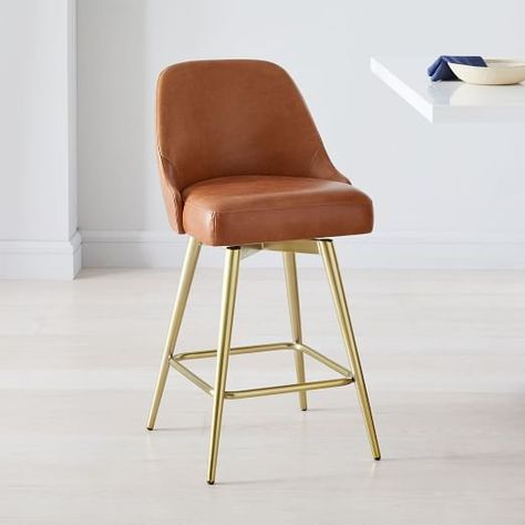 Fantastic West Elms Mid Century Leather Counter Stool Whats New At Andrewgaddart Wooden Chair Designs For Living Room Andrewgaddartcom