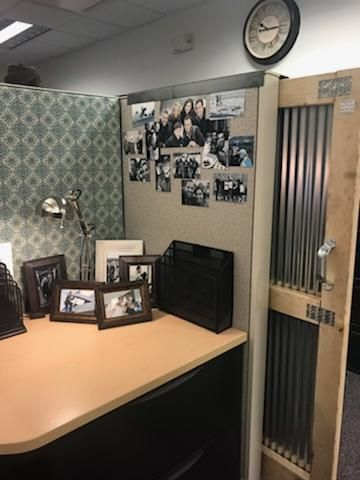 Farmhouse Office Leah And Joe Home Diy Projects Crafts Cubicle Makeover Cubicle Decor Office Cubicle Decor
