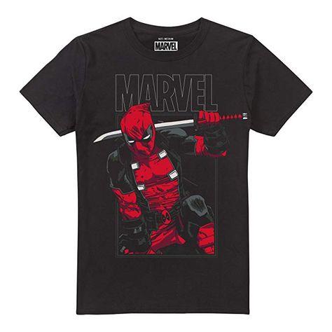 Herren Marvel T Shirt Deadpool SwordBekleidung SMpVUz