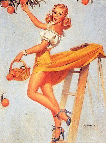Strange Robert Skemp Famous Vintage Pin Up Girl Artist Artwork Wwii Era Short Hairstyles For Black Women Fulllsitofus