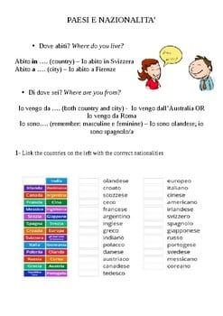 Countries And Nationalities In Italian Paesi E Nazionalità In Italiano Lesson Planned A Marketplace For Teaching Resources Italian Words Teaching Resources Italian Lessons