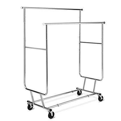 Tomcare Garment Rack Double Clothes Racks Ajustable Clothing Rack
