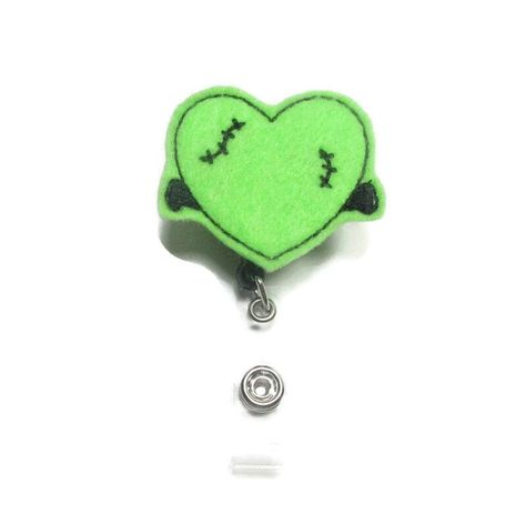 ~This is a listing for a Frankenstein Badge Reel, Monster Heart Badge Reel, Halloween Badge Reel, Nurse Badge Reel, Teacher Badge Reel, Retractable Reel ~These are perfect badge holders and we are starting to offer a variety to choose from. ~We attach feltie to a retractable alligator swivel clip badge reel or slide clip. Refer to the drop down for options. ~As of right now all reels we carry come in black. ~Check out the rest of our badge reels. We are adding more daily.