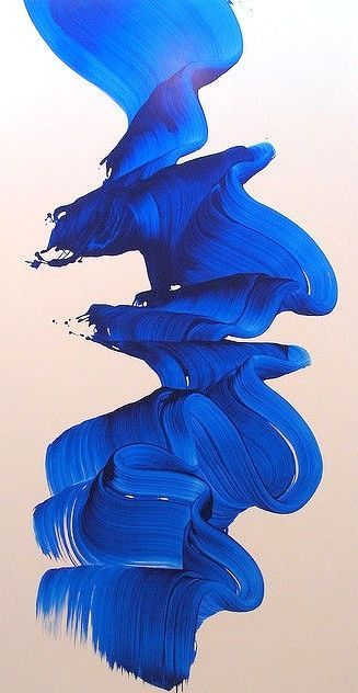 Art by James Nares Photos by A_O_G Via nvsblty Art Painting, Artist At Work, Travel Art, Abstract Painting, Painting, Blue Art, Texture Painting, James Nares, Abstract