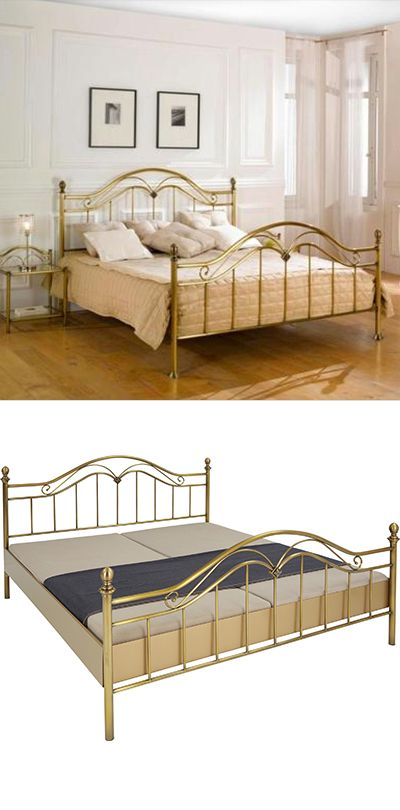 Metallbett Gold 140x200 Bett Bett 140 Messingfarben