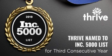Thrive Named to Inc. 5000 List of Fastest-Growing Companies in America for 3rd Consecutive Year - Web Design and SEO from Thrive