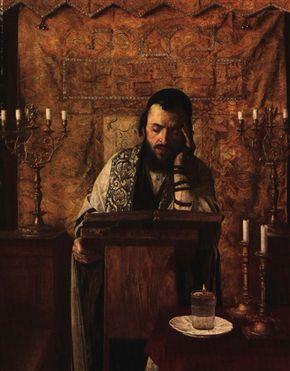 YOUNG RABBI AT PRAYER by Isidor Kaufmann | Jewish art