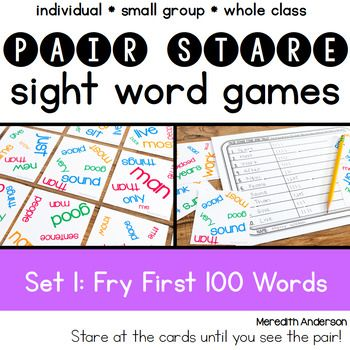 Sight Words Game Fry First Hundred
