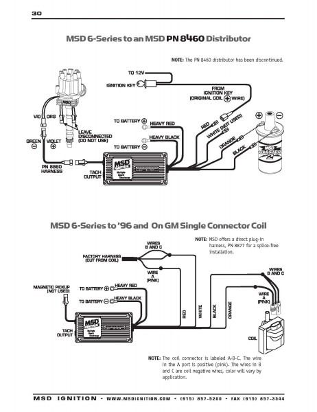 msd 8460 wiring diagram  diagram wire automotive electrical