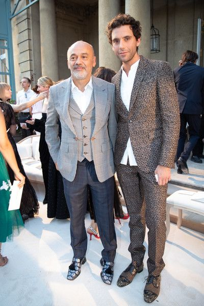 acheter populaire 95dfd 1c88a July 4, 2018 Mika and Christian Louboutin at Valentino Haute ...