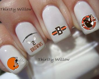Cleveland Browns Nail Decals