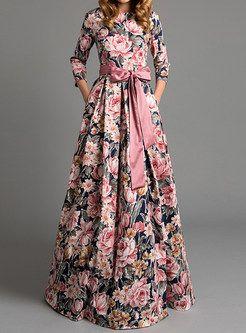 Mjuan Women V-Neck Floral Printed Long Sleeve Mini Dresses Ladies Summer Holiday Dress Black