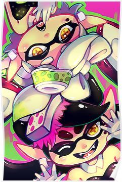 Squid Sisters Poster By Sharmie Splatoon Squid Splatoon Squid