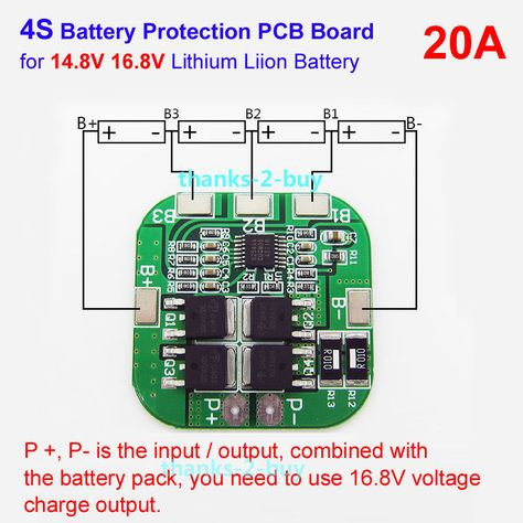 4s 20a Li Ion Lithium 18650 Battery Bms Protection Pcb Board 14 8v 16 8v Cell Lithium Battery Charger Lithium Battery Battery