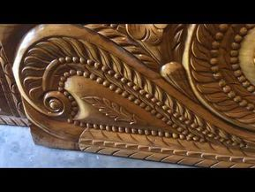 Segun Wood Bed Set Bedroom Furniture Full Hand Made Youtube In 2020 Wood Bed Set Wood Beds Wood Bed Design