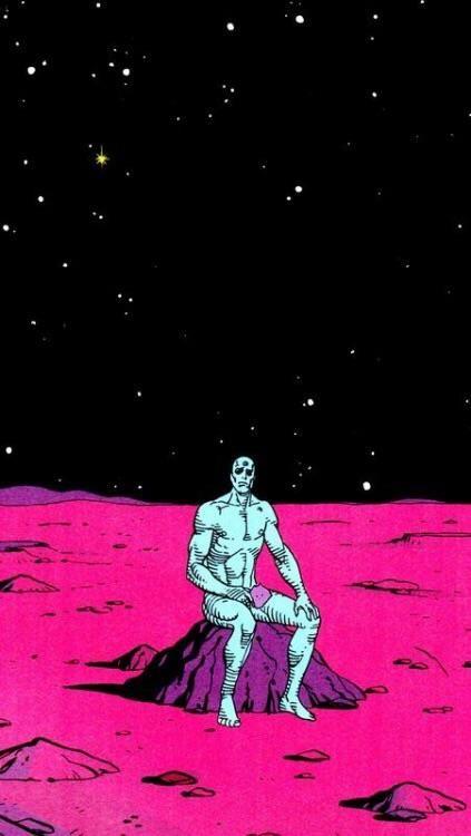 Lonely Titan Manhattan Wallpaper Watchmen Vaporwave Wallpaper