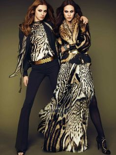 Aymeline Valade & Olga Sherer for Roberto Cavalli Fall 2011