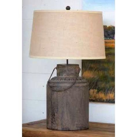 Metal Milk Can Lamp Farmhouselamp Farmhouse Lamps Milk Cans Table Lamp
