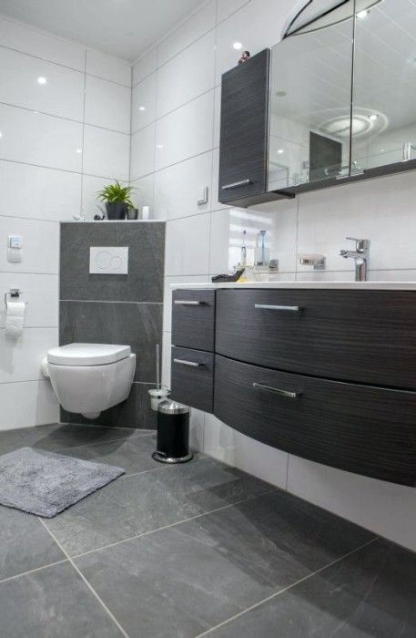 Badezimmer Ideen Grau Weiß | Badezimmer ideen grau ...