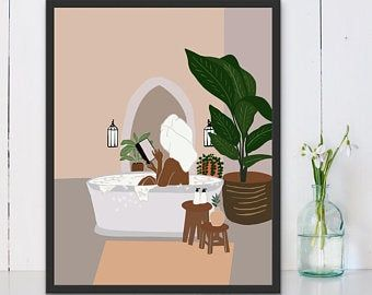 African American Bathroom Wall Art Etsy Etsy Wall Art African American Art Earth Tone Wall Art
