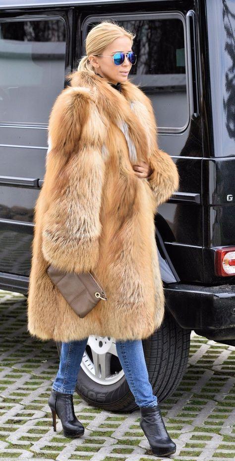 New 2016 fire gold saga fox swinger fur coat class- chinchilla sable jacket mink